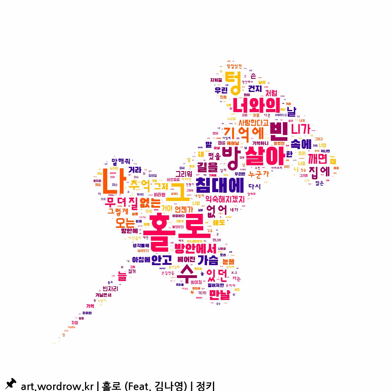 워드 클라우드: 홀로 (Feat. 김나영) [정키]-73
